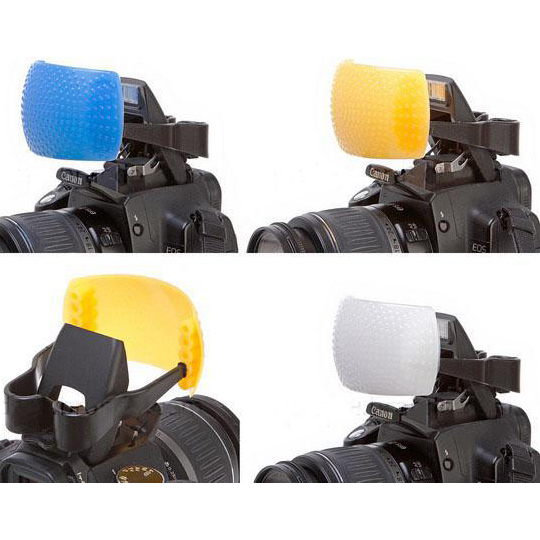 Kit Difusor Flash Pop Up Universal 3 Cores UNIVERSAL DSLR