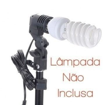 Kit Iluminação Estúdio P/newborn Luz Continua E27 Foto/vídeo