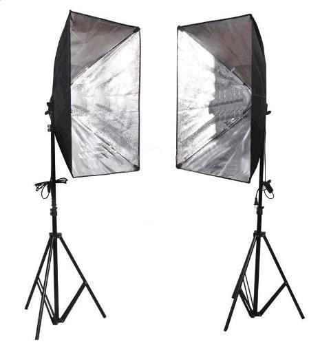Estudio Fotografico 50x70cm  Iluminação Ágata Ii com gride profissional