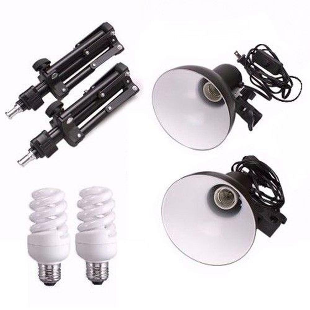 Kit Tripé Iluminador Pkl 45 Para Mini Estudio 110 ou 220v pkl45