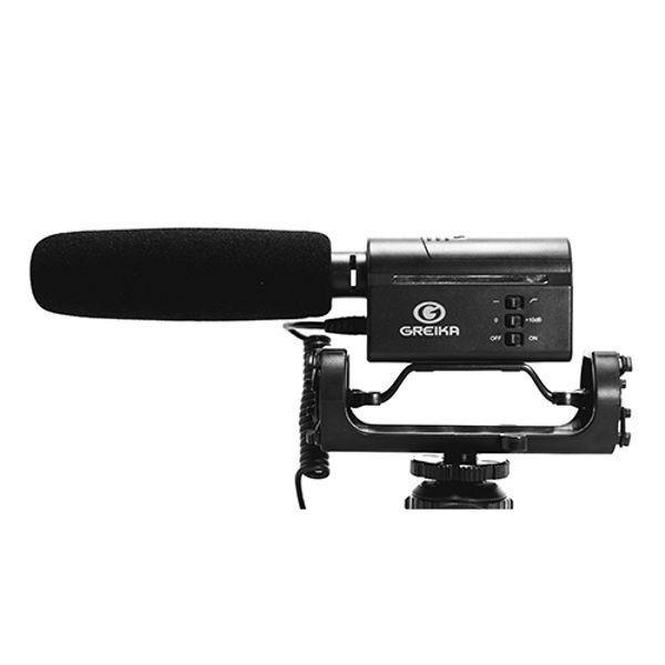 Microfone Direcional Greika Gk-sm10 Videos em Câmera