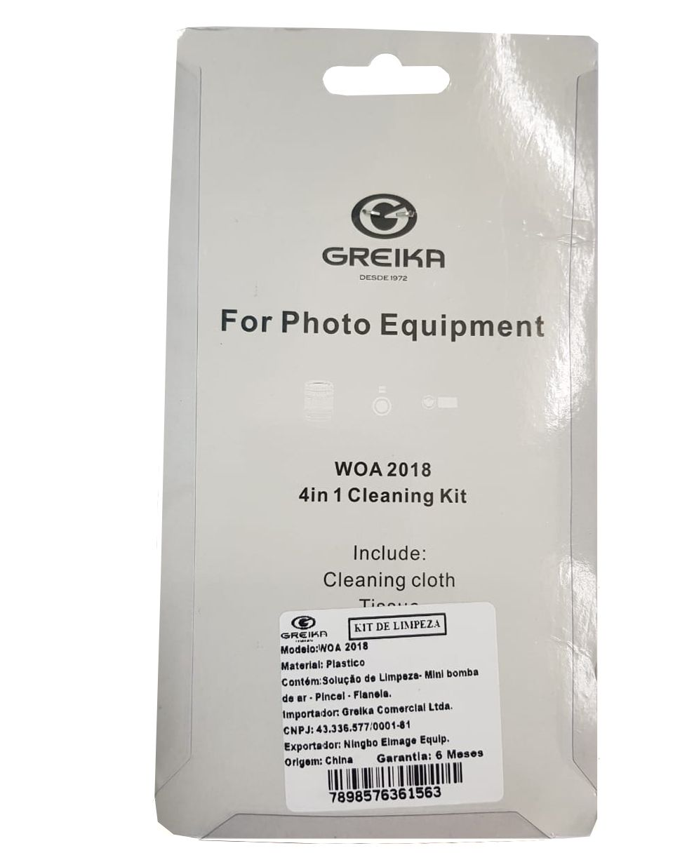 O Kit de Limpeza WOA2018 5x1 Greika para câmeras profissionais