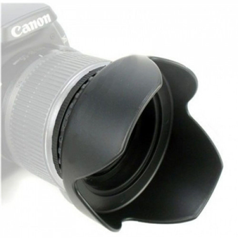 Parasol para Lente de 55mm Universal Rosca Tulipa Canon, Sony, Nikon - Oem