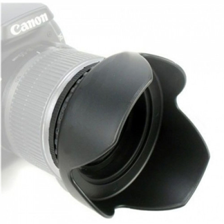 Parasol para Lente de 58mm Universal Rosca Tulipa Canon, Sony, Nikon - Oem