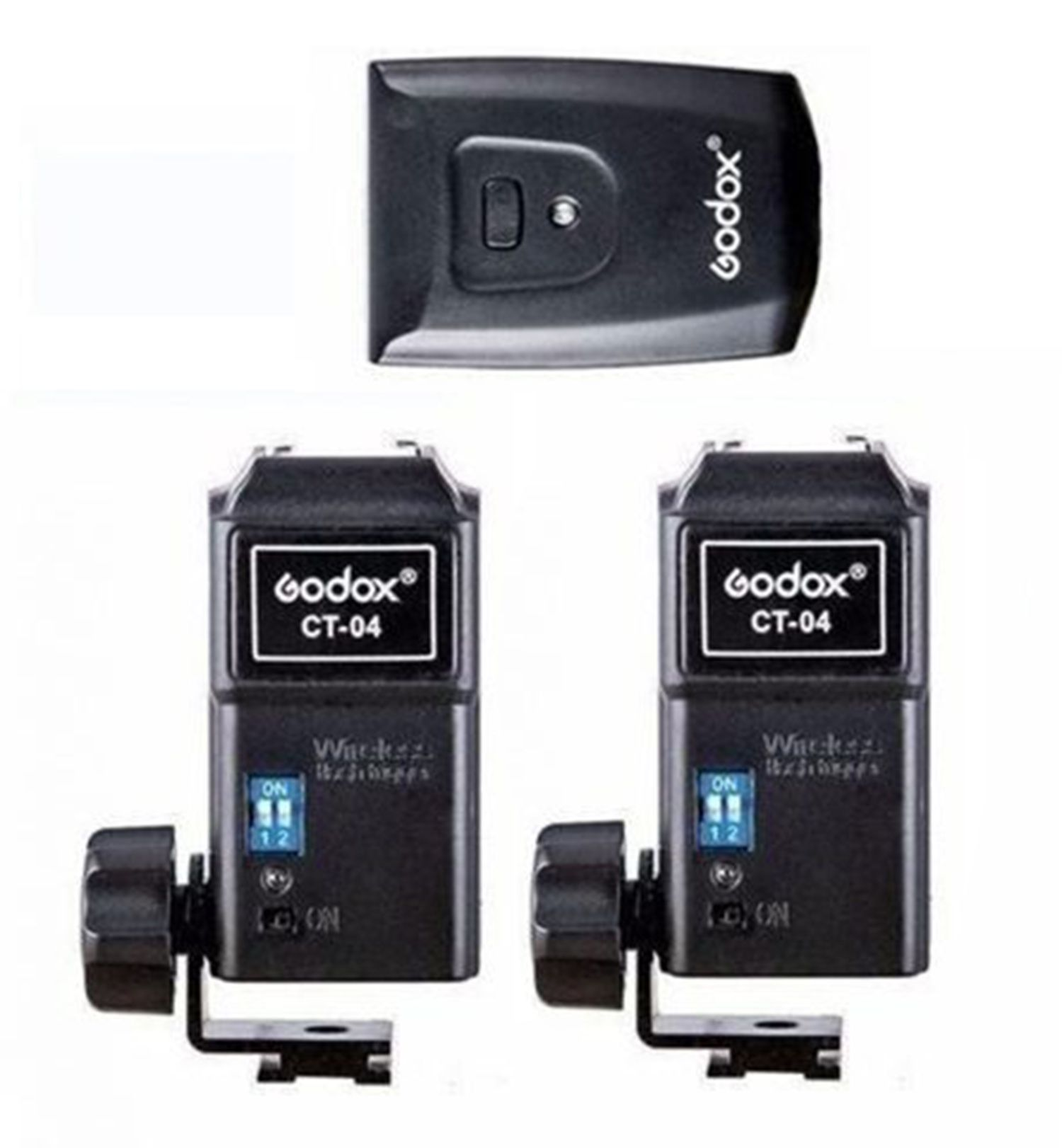 Rádio Flash Godox Ct-04 Canais Transmissor com 2 Receptor Estúdio