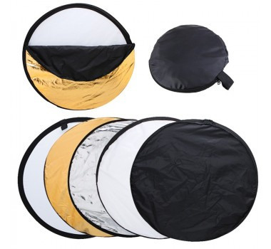 Rebatedor Circular Dobrável 5 Em 1 - 60 Cm