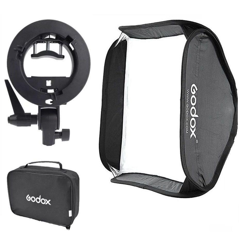 Softbox P/ Flash Speedlight 80x80 Godox / Dobravel