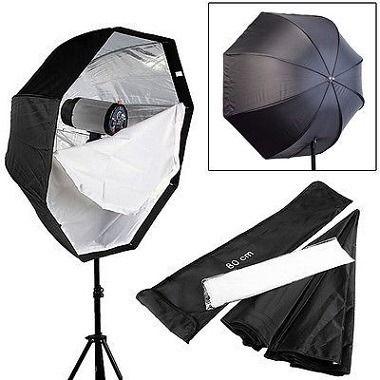 Softbox Sombrinha 80cm Octabox para Iluminação de Estúdios Fotográficos