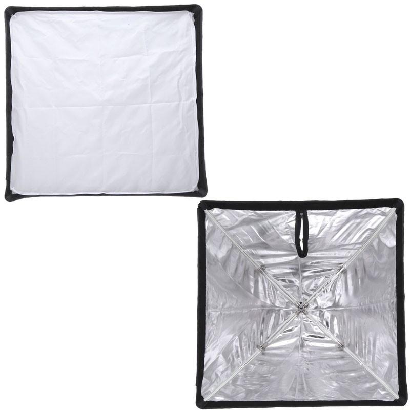 Softbox Sombrinha 90x90cm para Iluminação Estúdios Fotográficos Greika SBUBW9090