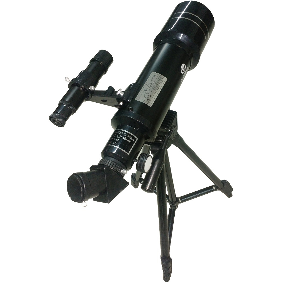 Telescópio Refrator Azimutal 40070m Luneta Lente 400mm 70mm