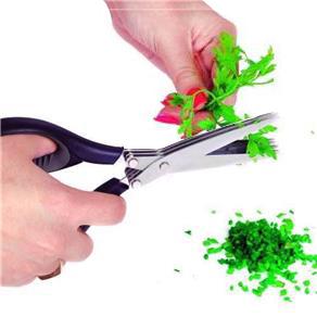 """Tesoura 3 Lâminas Cortar Picar Temperos Cheiro Verde Ervas 7"""""""