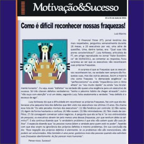 Mensagens semanais MOTIVAÇÃO & SUCESSO