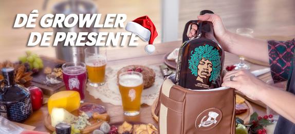 Para o Natal ficar perfeito: dê growlers de presente.
