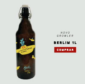 Novo Growler de 1 litro: Berlim com tampa fliptop.