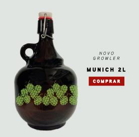 Growler 2 litros com tampa fliptop: Munich na coleção quatro elementos.
