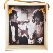 Quadro para coleção de bolachas de chopp - Coleção Rock'n'Growler - John Lennon e Mick Jagger