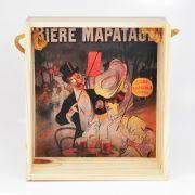 Quadro para coleção de bolachas de chopp com decoração retrô cervejarias belgas - Bière Mapatage