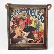 Quadro para coleção de bolachas de chopp com decoração retrô cervejarias belgas - Bières de La Meuse 1