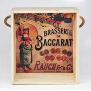 Quadro para coleção de bolachas de chopp com decoração retrô cervejarias belgas - Brasserie de Baccarat