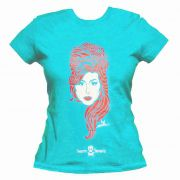 Camiseta baby look - Coleção Twenty Seven's - Amy Winehouse - Azul