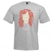 Camiseta - Coleção Twenty Seven's - Janis Joplin - Cinza
