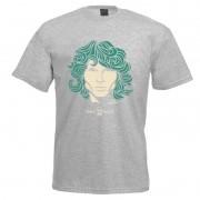 Camiseta - Coleção Twenty Seven's - Jim Morrison - Cinza
