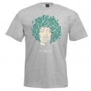 Camiseta - Coleção Twenty Seven's - Jimi Hendrix - Cinza