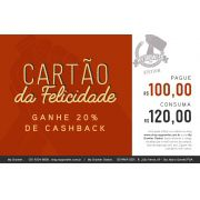 Cartão da Felicidade R$100 ganhe 20% de cashback - My Growler