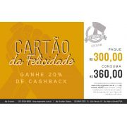 Cartão da Felicidade R$300 ganhe 20% de cashback - My Growler