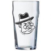 Copo Pint 473ml - Coleção Pensadores da Cerveja - Winston Churchill - Preto