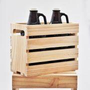 Engradado em madeira para 2 growlers padrão americano 1,89l