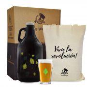 Kit Cervejeiros #2 - 1 Growler Americano + 1 Copo Pint + Ecobag + Embalagem especial