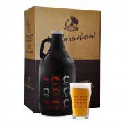 Kit Cervejeiros #2 - 1 Growler Americano + 1 Copo Pint + Embalagem especial