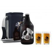 Kit My Growler #6 - Growler Americano + Growler Bag Travel para 1 growler + Copo Pint 300ml