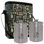 Kit My Keg #2 - 2 Mini Keg, Mini Barril 2L My Growler + Growler Bag To Go para 2 growler