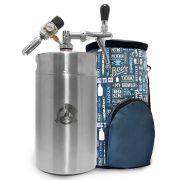 Kit My Keg: Chopeira 8L Italiana Premium + Growler Bag para mini keg