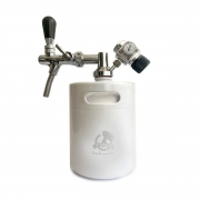 Kit My Keg: Chopeira 2L branco com torneira italiana premium