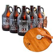 Kit Pensadores - Growler Americano + Kit Pizza 3 peças