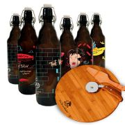 Kit Rock - Growler Berlim 1l + Kit Pizza 3 peças