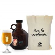 Kit Rock'n'Growler #12 - Growlucho 1l + Taça Dublin 400ml + Ecobag