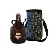 KIT TO GO #1: Grand Growler 2l  Bob Dylan + Growler Bag To Go para 1 growler