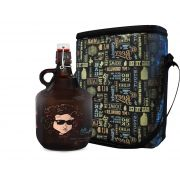KIT TO GO #2: Grand Growler 2l  Bob Dylan + Growler Bag To Go para 2 growlers