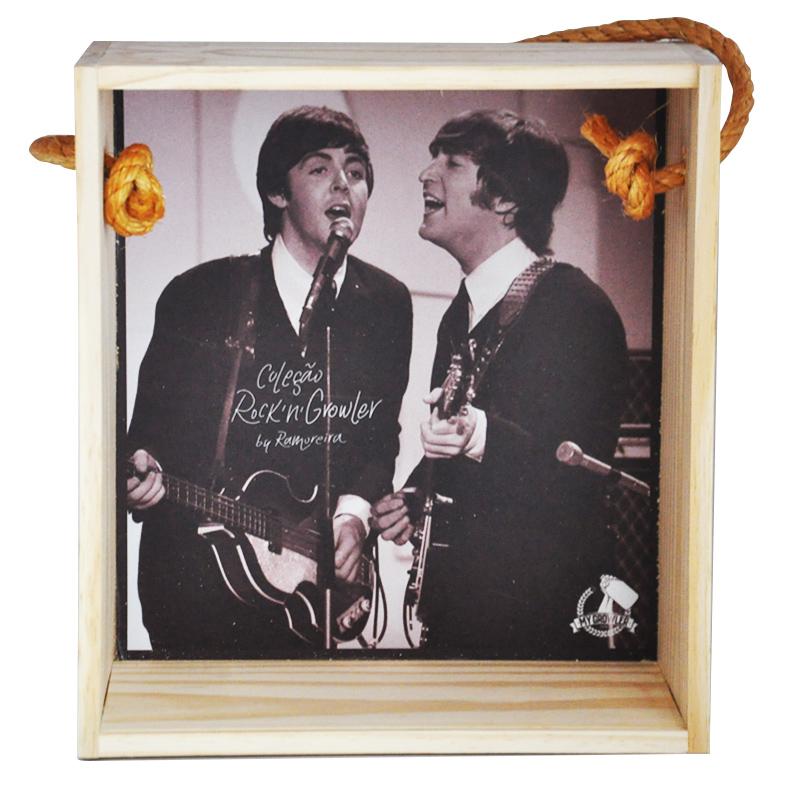 Quadro para coleção de bolachas de chopp - Coleção Rock'n'Growler - Beatles