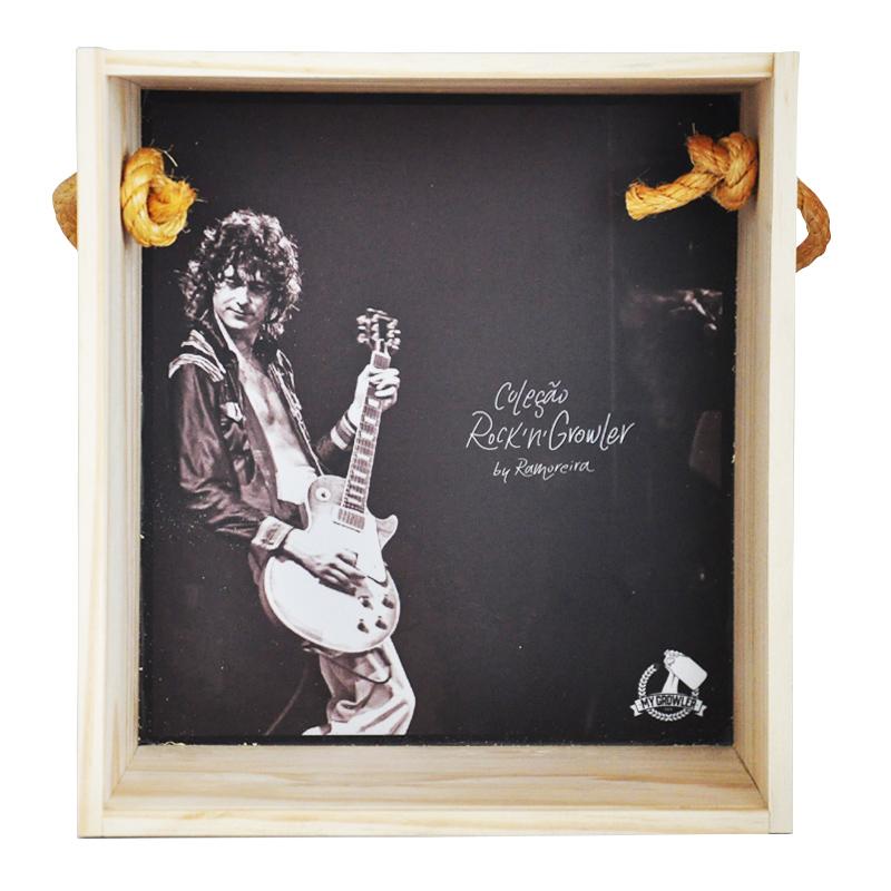 Quadro para coleção de bolachas de chopp - Coleção Rock'n'Growler - Led Zeppelin