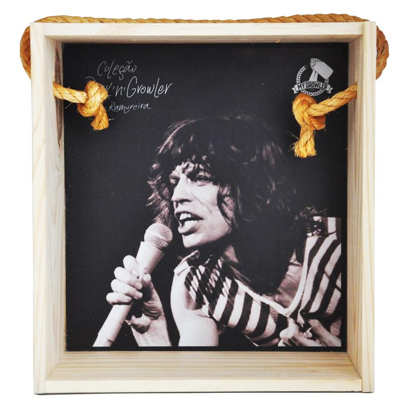 Quadro para coleção de bolachas de chopp - Coleção Rock'n'Growler - Rolling Stones