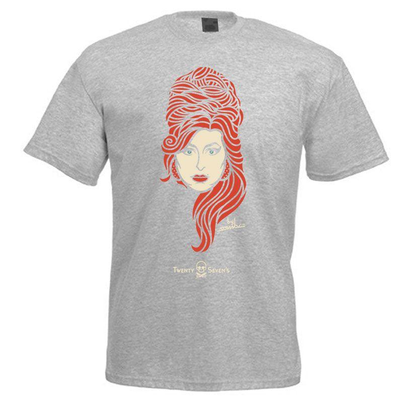 Camiseta - Coleção Twenty Seven's - Amy Winehouse - Cinza