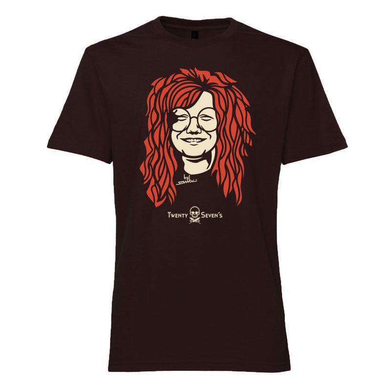 Camiseta - Coleção Twenty Seven's - Janis Joplin - Preta
