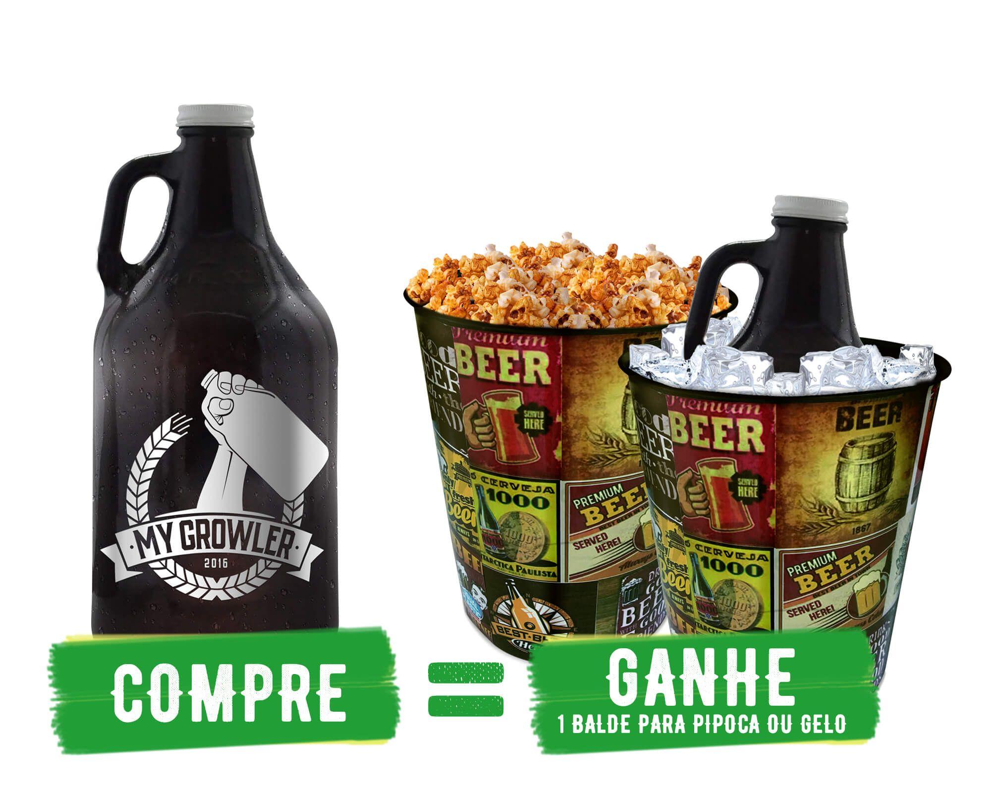 COMPRE E GANHE: GROWLER AMERICANO + BALDE PARA GELO/PIPOCA