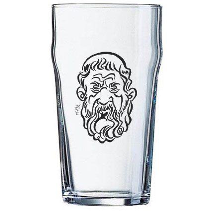 Copo Pint 473ml - Coleção Pensadores da Cerveja - Platão - Preto