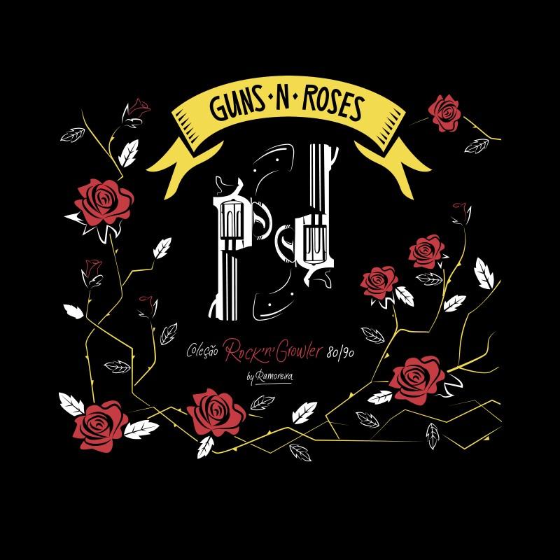 Copo Pint 473ml - Coleção Rock'n'Growler 80/90 - Guns N' Roses